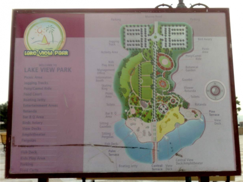 Its a map of Rawal Lake view park for tourists